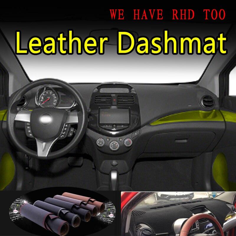 Dla chevrolet spark GT G3 2010 2011-2015 skóra Dashmat pokrywa deski rozdzielczej mata na deskę rozdzielczą osłona przeciwsłoneczna Car Styling akcesoria samochodowe