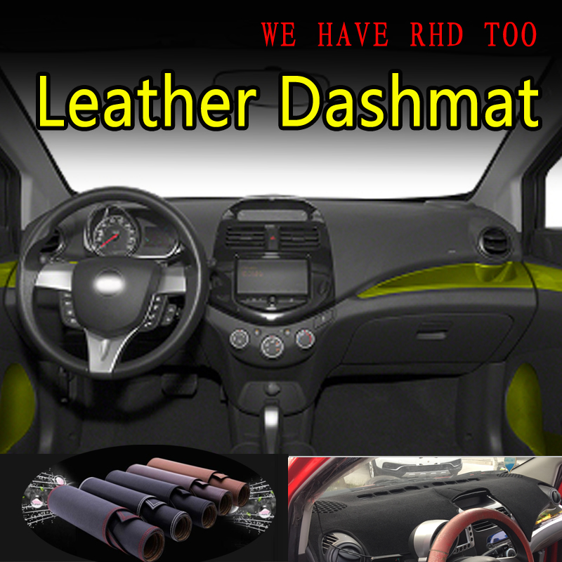 For Chevrolet Spark GT G3 2010 2011 -2015 Leather Dashmat Dashboard Cover Dash Mat Sunshade Carpet Car Styling Auto Accessories