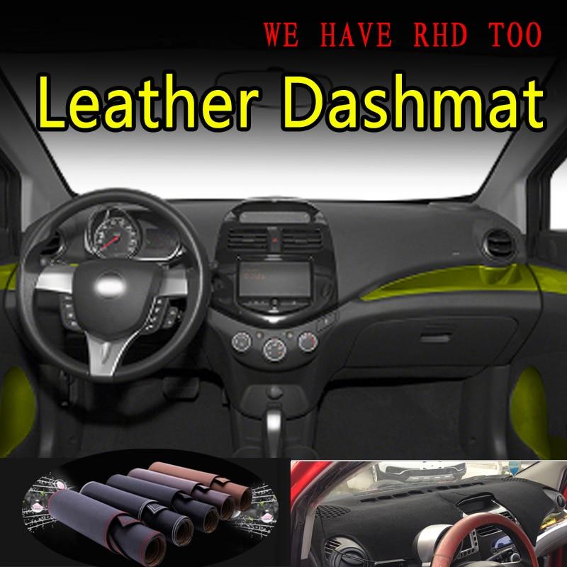 Per Chevrolet Spark GT G3 2010 2011-2015 In Pelle Dash Zerbino Copertura Cruscotto Dash Zerbino Parasole Tappeto Car Styling accessori auto