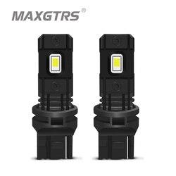 2x T20 LED CANBUS 7440 W21W CSP Chip Auto ledowe światło tylne Backup lampa DRL światło kierunkowskazów LED żarówka 6000K biały