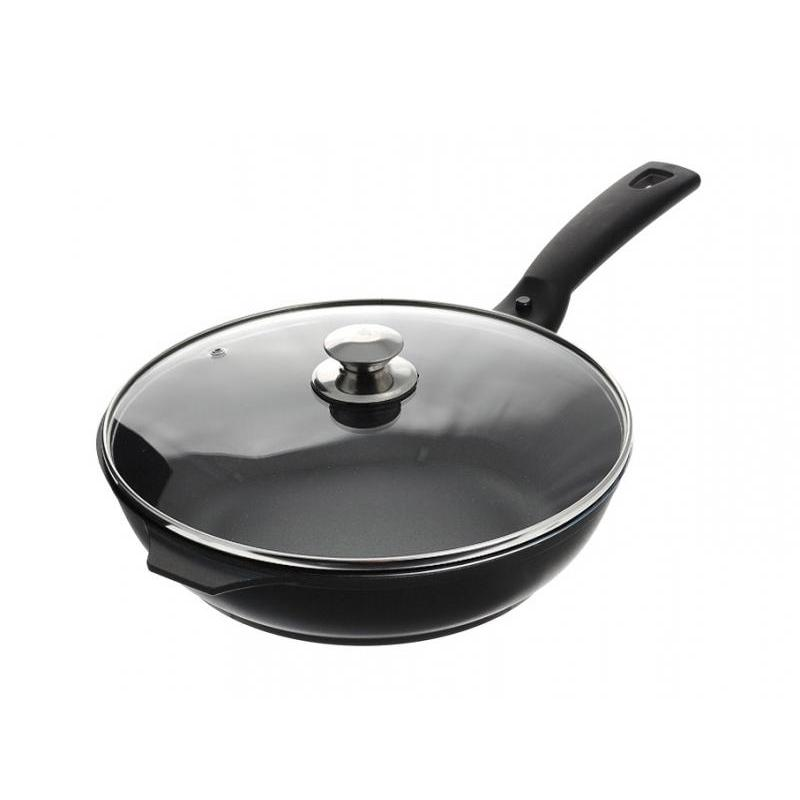 Фото - Frying Pan Kukmara, Tradition, 26 cm, with non-stick coating, with removable handle, glass cover frying pan kukmara tradition 22 cm with non stick coating with glass cover removable handle