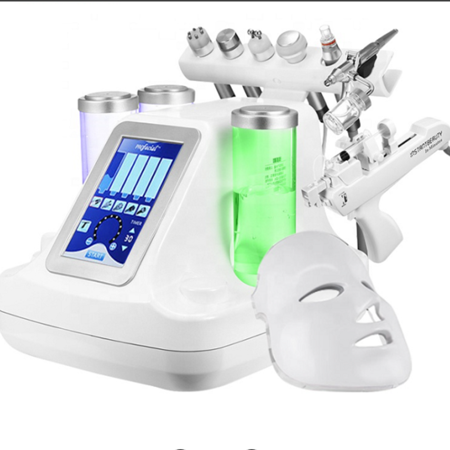 8 In 1 Hydra Dermabrasion RF Bio-lifting Spa Facial Machine Water Oxygen Jet Hydro Diamond Peeling Microdermabrasion