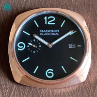 Luxury Watch Shape Wall Clock Silent Wall Watch Needle Mirrored Wall Clock Large with Date for Retail with Logo