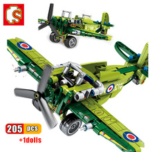 sembo block ww2 technic ww2 us f4u spitfire fighter war amry airplane military technic building brick construction toy for child Sembo Block WW2 Technic WW2 US F4U Spitfire Fighter War Amry Airplane Military technic Building Brick Construction Toy for Child