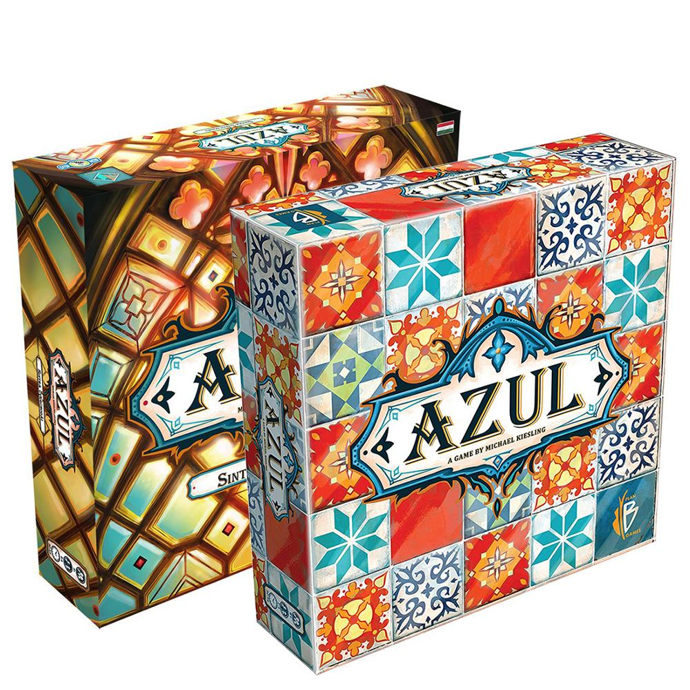 Plan B Games Azul Board Game Fun Tile Drafting for 2-4 Player Age 8+ Stained Glass Of Sintra 2 The Family Fun Joy Playmat image