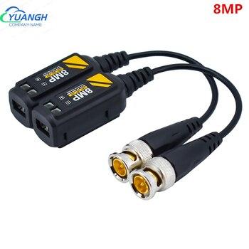 10 par 8MP BNC CCTV Coax wideo Balun nadajnik AHD/HD-CVI/TVI/CVBS pasywna skrętka