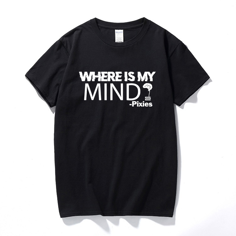 Pixies Where Is My Mind T-shirt Music Song Rock Band Festival Tour Unisex Tee New Summer Top Cotton T shirt Men Euro Size