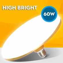 UFO lamba enerji tasarrufu LED ışık 220V SMD 5730 LED ampul E27 B22 15W 20W 30W 40W 50W 60W UFO led ampul ışık lampada ev için