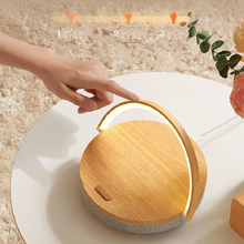 Wireless Charger Wooden Speaker Table Lamp Bluetooth Speaker With Convenient Led Light High Power Speakers Wooden Present