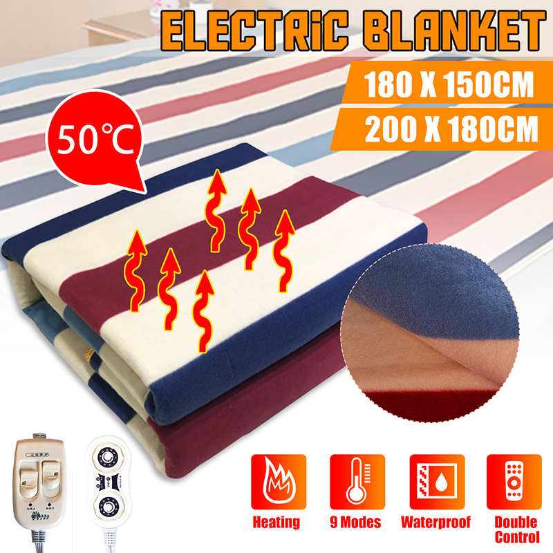 180x150cm/200x180cm Automatic Electric Heating Thermostat Throw Blanket Double Body Warmer Bed Mattress Electric Heated Carpet