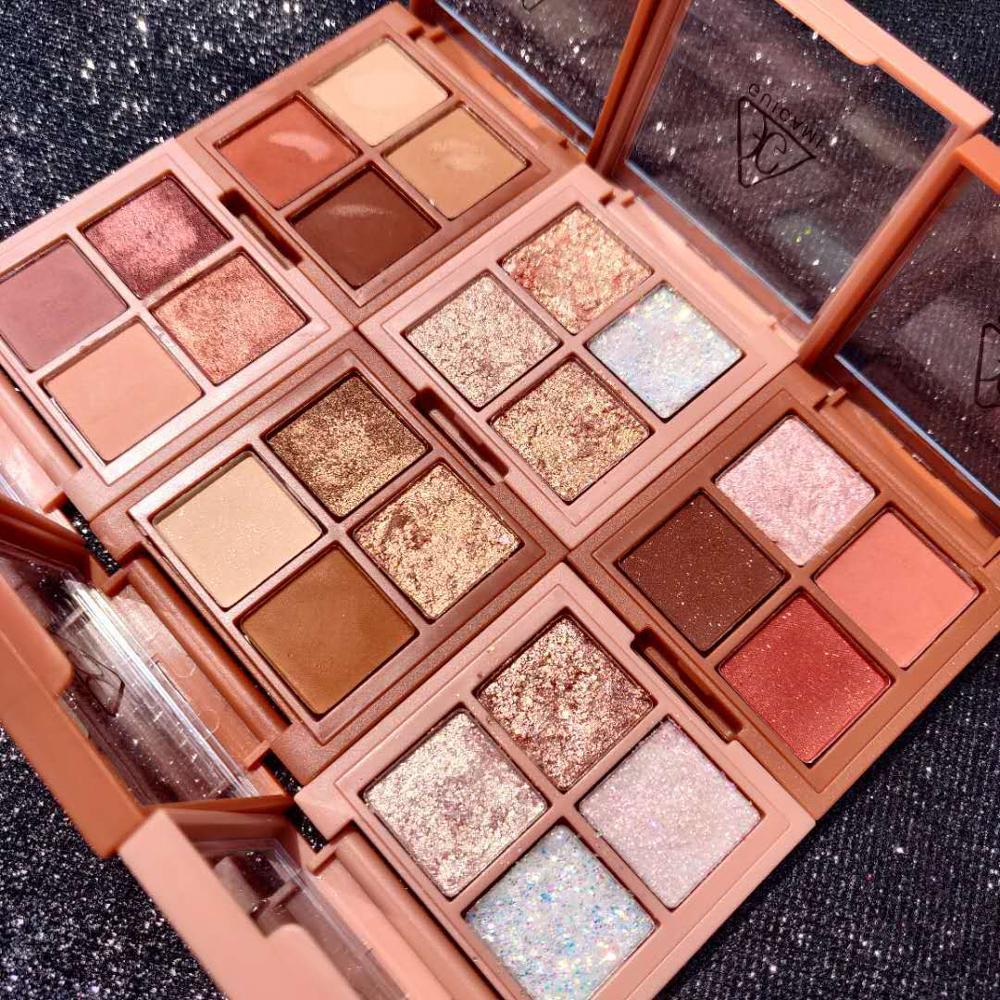 2020 New Charming Eyeshadow Palette 4Color Make Up Palette Matte Shimmer Pigmented Eye Shadow Powder Beauty Glazed