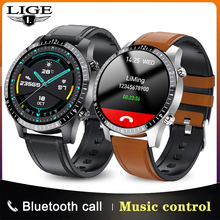 LIGE 2021 fashion Full circle touch screen Bluetooth call Smart watches mens Waterproof SportS Smart Watch for Android IOS Phone