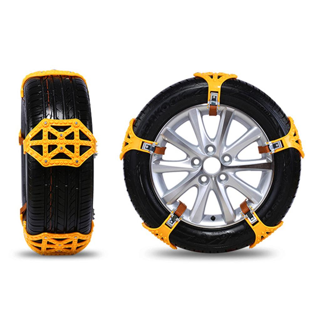 5pcs Winter Car Snow Chain Tires Anti Skid Chains Universal Multi-function Car Off-road Vehicle SUV Cars Snow Tire Chain