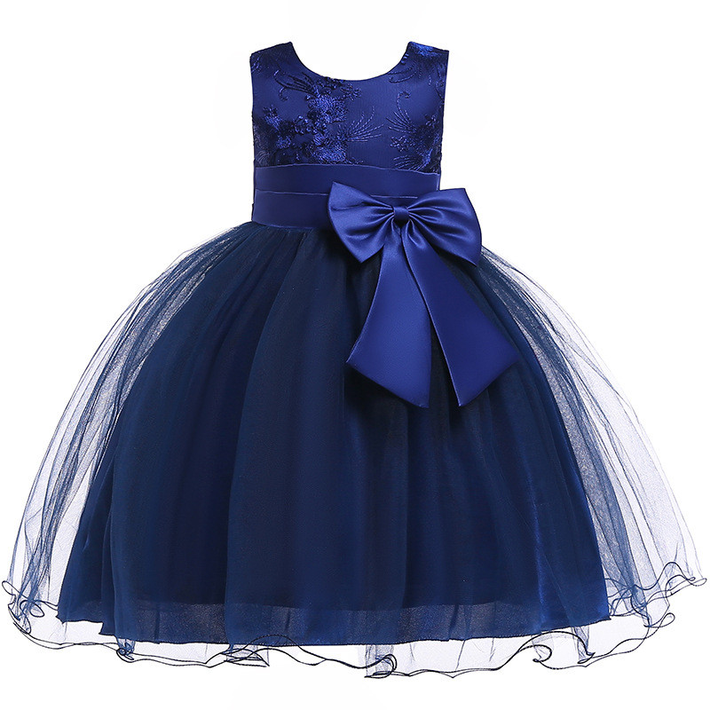 H635f6c9f449948db8eb301d1ae3eb2efO Princess Flower Girl Dress Summer Tutu Wedding Birthday Party Dresses For Girls Children's Costume New Year kids clothes