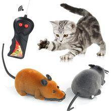 2020 mouse ano de controle remoto sem fio eletrônico mouse pet gato mouse brinquedo de controle remoto brinquedo brincadeira brinquedo assustador gato presente