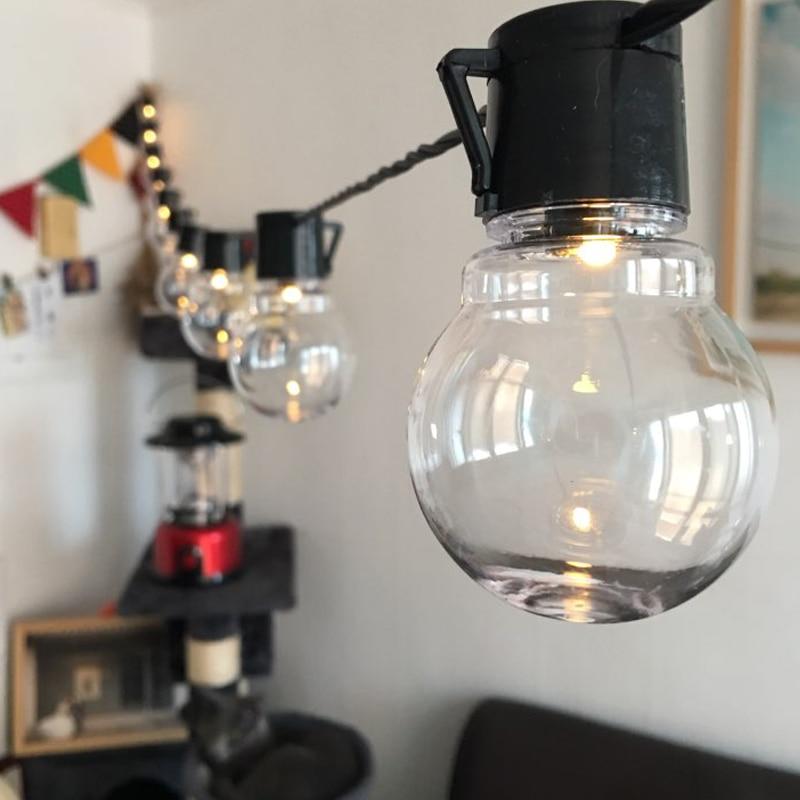 5M 20 LED String Light Outdoor Fairy Lights Garland G45 Bulbs Garden Patio Wedding Christmas Decoration Light Chain Waterproof