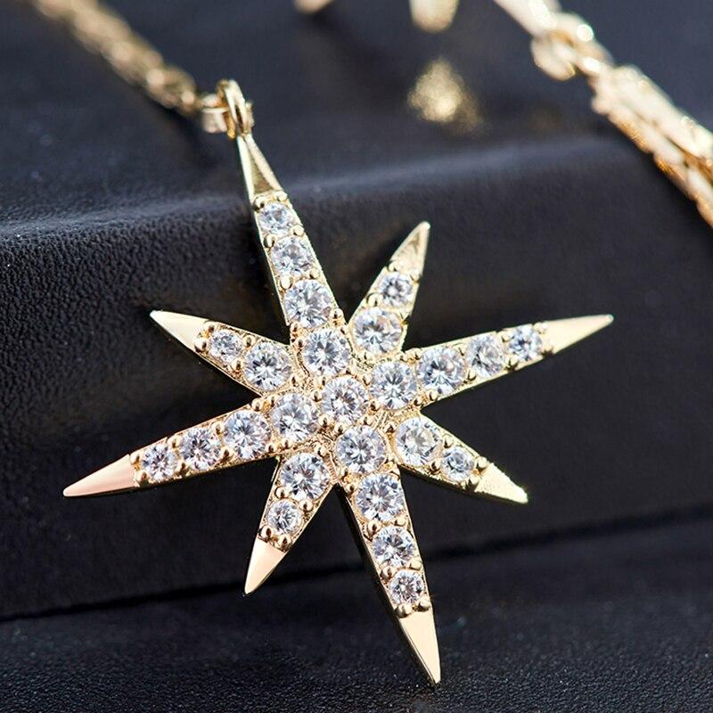 Luxury Brand Long Chain Star Asymmetric Earrings For Women Vintage Crystal Big Dangle Earring Wedding Jewelry Statement 2020 New