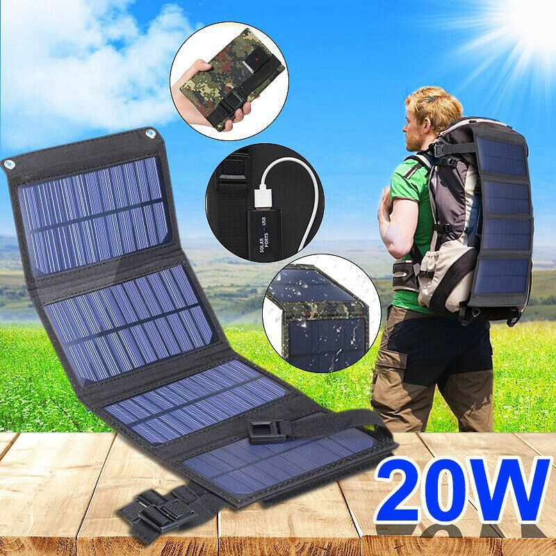 20W USB Foldable Solar Panel Flexible Small Waterproof 5V Folding Solar Panels Cells For Smartphone Battery Charger|Solar Cells| - AliExpress