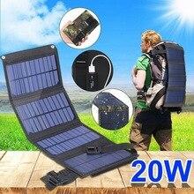 USB Foldable Solar Panel portable Flexible Small Waterproof 5V Folding Solar Panels Cells For mobile hone Battery Charger