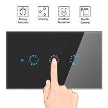 WIFI Smart Remote Control Touch Key Switch Voice Control Smart Switch 1/2/3 Gang Smart Wall Light Switch US/EU /AU/UK Regulation