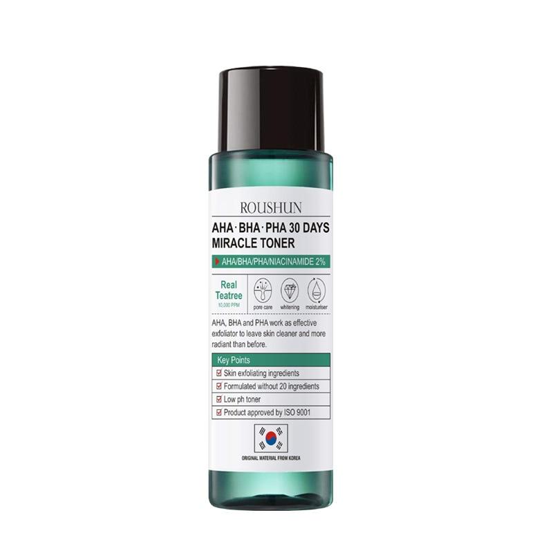 Face Care Korean Cosmetics Tea Tree Toners 120ml AHA BHA PHA 30 Days Miracle Toners Acne Treatment Skin Exfoliating Whitening
