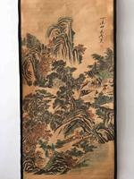 China old scroll painting Celebrity landscape painting Middle hall hanging paintings Wall paintings bamboo forest