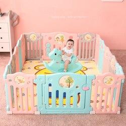 Kinder Baby Sicherheit Laufgitter Fechten Indoor Baby Spielen Haus Krabbeln Kleinkinder Leitplanke Spiel Laufstall Kinder Aktivität Getriebe