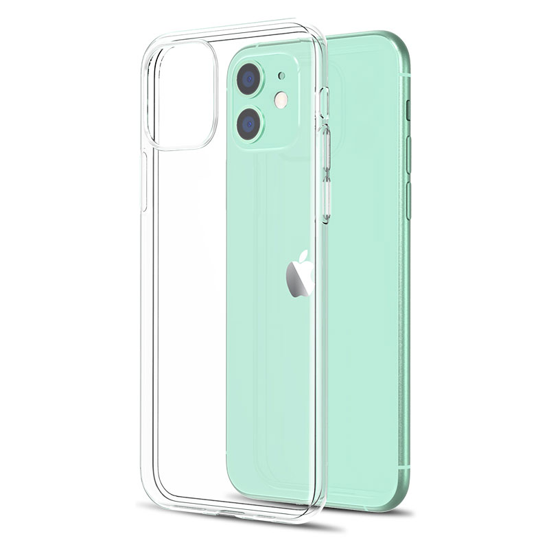 Ультратонкий Прозрачный чехол для телефона iPhone 12 Mini, силиконовый мягкий чехол из ТПУ, задняя крышка для iPhone 11 Pro XS Max XR X 8 7 6s Plus 5 SE2