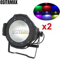 2PCS 100w COB Par Light Stage Ligh RGBWA UV 6IN1 DMX512 Control DJ Party Light Indoor Spot Par 64 Can Wash LED Par Lights Disco