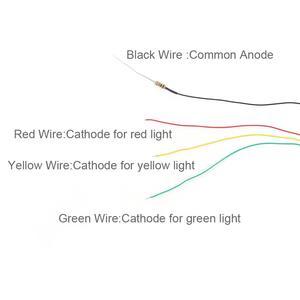 Image 3 - JTD02 5 قطعة إشارات نموذج كتلة السكك الحديدية 3 أضواء أخضر أصفر أحمر إشارة المرور أضواء HO أو OO مقياس 8.3 سنتيمتر 12 فولت Led جديد