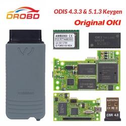 VAS5054 ODIS V4.3.3 keygen pełny chip oryginalny OKI Auto OBD2 narzędzie diagnostyczne VAS5054A VAS 5054A czytnik kodów Bluetooth