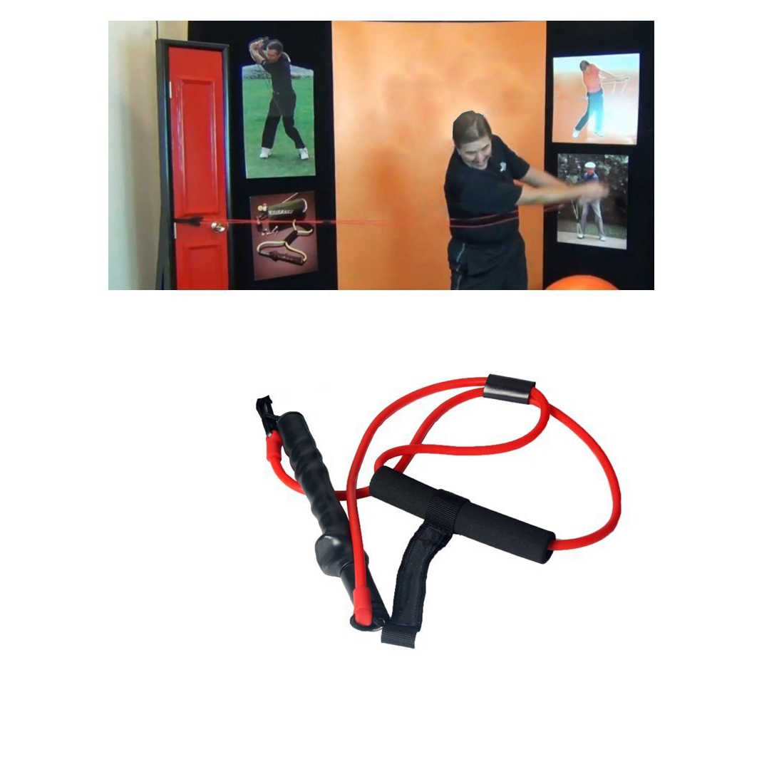 Golf Swing Trainer Strength Trainer Strong Action Correction Device Golf Club Golf Swing Golf Training Supplies