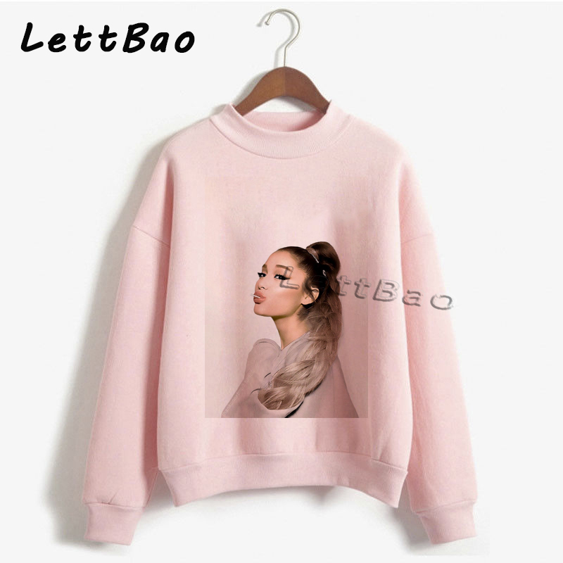 Ariana Grande Fans Aesthetic Autumn Design Top Sweatershirt Streetwear Vintage Women Clothing Fashion White Pink Hoodie Hot Sale