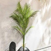 Palmier Tropical artificiel 125cm, fausses feuilles de Monstera en plastique, grande branche d'arbre pour la maison, jardin, décor de salon