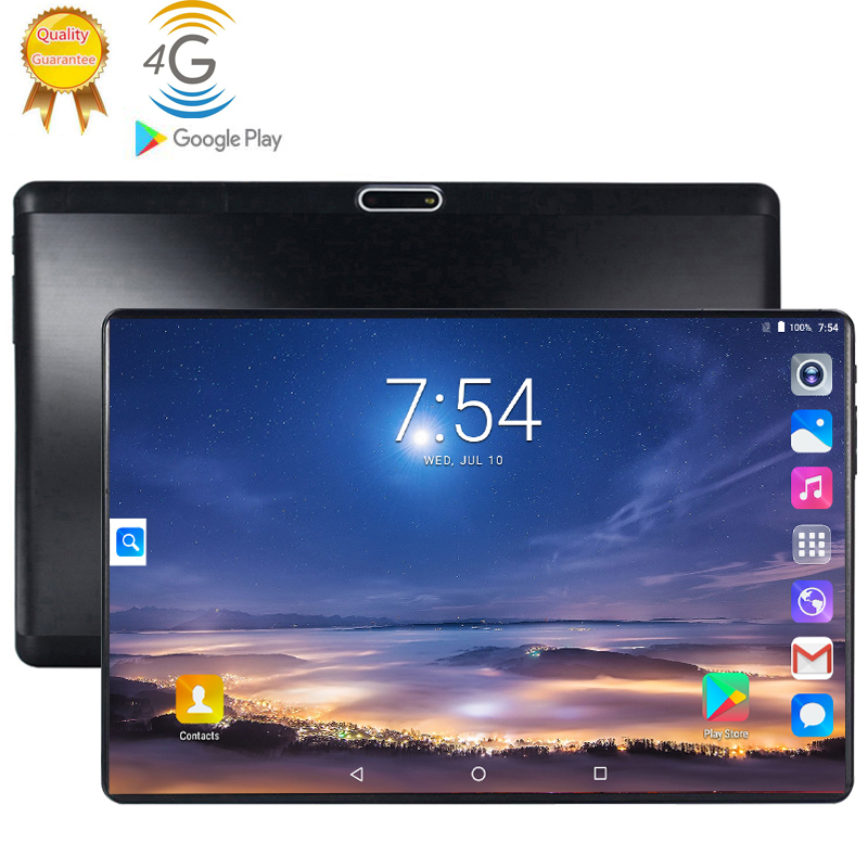 2020 4G LTE Tablet PC 128G Global Bluetooth Wifi Android 9.0 10.1 Inch Tablet Octa Core 6GB RAM 128GB ROM 2.5D Screen Tablets Pc