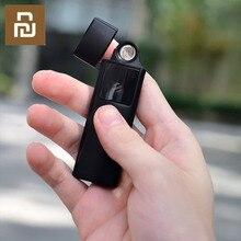 ใหม่ Xiaomi Beebest Ultra thin ไฟแช็ก USB ชาร์จ TOUCH Sensing สวิทช์คู่ไฟแช็ก Men ของขวัญ
