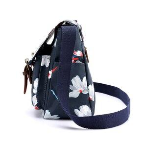 Image 3 - Bolso de hombro con estampado de flores para mujer, bandolera de nailon resistente al agua, Retro