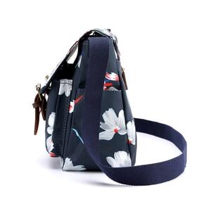 Image 3 - Women Handbags Female Flower Printed Shoulder bags Waterproof Nylon Messenger Bags Ladies Crossbody Bag Retro Bolsas