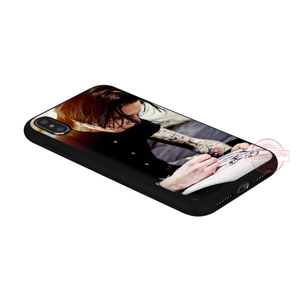 WEBBEDEPP Andy Biersack Veil Brides BVB soft silicone phone case for iPhone 5 6 7 8 Plus X XS XR XS Max.11 11peo 11proMax