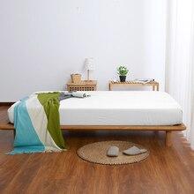 Однотонная простыня, приятная для кожи, хлопковая Простыня из ткани с эластичной лентой, чехлы для матрасов, многоразмерная кровать, настраиваемая