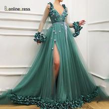Abendkleider/элегантное вечернее платье из тюля с рукавами и