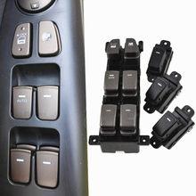 Botón de interruptor principal de ventana auténtico, interruptor LHD y de pasajero para Hyundai NF Sonata 93580-3K500, 2013-2018