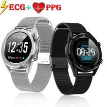 DT28 الرجال ساعة ذكية IP68 مقاوم للماء ECG القلب معدل ضغط الدم رصد جهاز تعقب للياقة البدنية Smartwatch الرياضة سوار
