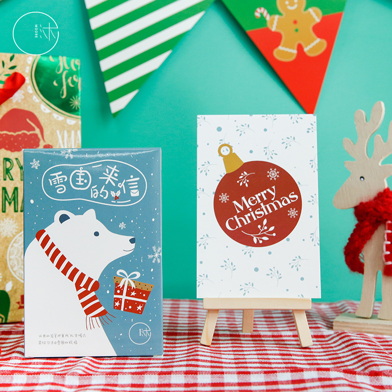 30 Pcs/Set Merry Christmas  Postcard /Greeting Card/Message Card/Christmas And New Year Gift
