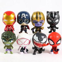 Superheroes Avengers Set of 8 Toys with Removable Heads 3