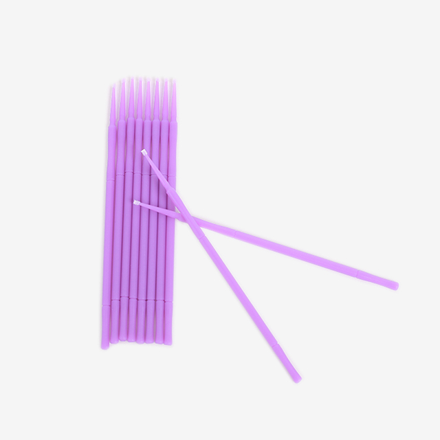 100pcs/ 1 pack Tattoo Microblading Brushes Disposable Swab Lint Free Micro Brush Permanent Tattoo Supplies For Eyelash 2
