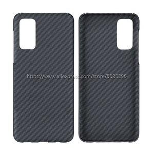 Image 2 - 600D Kevlar prawdziwe czystego włókna węglowego ultralekki pancerz Funda dla Samsung S20 Ultra przypadku S20 + S20 Plus 5G zderzak pokrywa