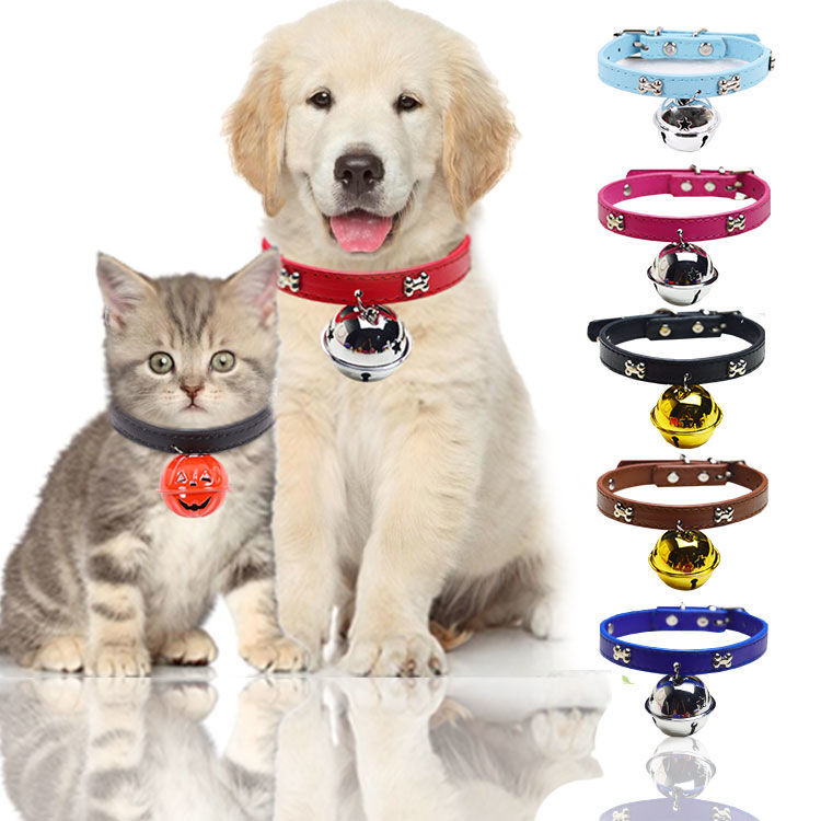Bone Neck Ring With Large Bell Diameter 4cm Cute Super Meng Wearable Hand Holding Rope Pet Dog Cat Accessories