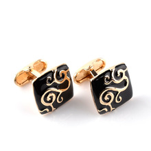 Best selling new square pattern cufflinks fashion French cuffs banquet party European and American holiday gifts