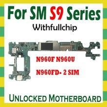 Original Unlocked Motherboard For Samsung Galaxy Note 9 N960F N960U N960FD 2 SIM Full Chips Unlock Logic Board Mainboard Android